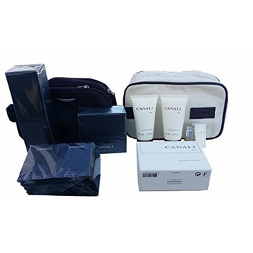 CANALI BLACK DIAMOND BIG GIFT SET includes 1 AFTER SHAVE 3.4 fl oz ,1 SHOWER CREAM 6.8 fl oz, 1 Toiletry set, 2 ALL OVER SHOWER GEL, 10 VIALS, and 2 TRAVEL POUCHES ITALY. Simply the BEST!