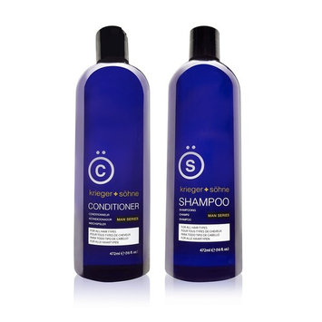 K + S Salon Quality Men's Shampoo + Conditioner Set – Tea Tree + Peppermint Oil Infused To Prevent Hair Loss, Dandruff, and Dry Scalp - Reduce Flakes While Promoting Stress Relief (16 ounce)