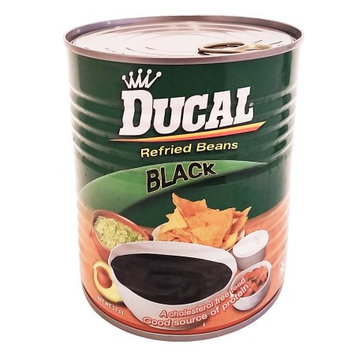 Ducal Refried Black Beans 29 oz - Frijoles Negros Refritos (Pack of 12)
