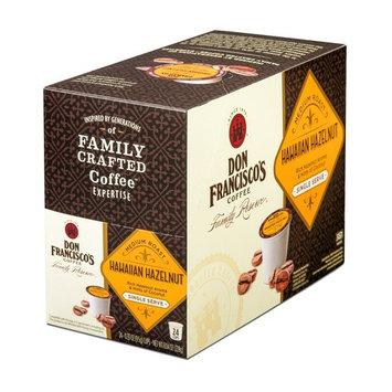 Don Francisco's Single Serve Coffee Pods, Hawaiian Hazelnut Flavor, Compatible with Keurig K-cup Brewers, 24 Count [Hawaiian Hazelnut 24 ct.]