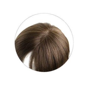 Monofilament Clip-in Human Hair Women's Topper- Color #5 Medium Brown w/ Red Undertones - 18