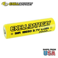 6pc IMR 18650 3.7V LiMN 2600mAh Rechargeable Button Top Battery FAST SHIP