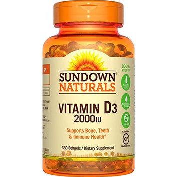 Sundown Naturals Vitamin D3 2000 IU, 350 Softgels Each