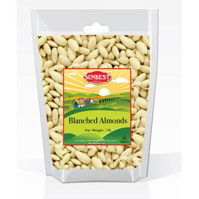 SunBest Blanched Whole Almonds 1 Lb in Resealable Bag (16 Oz)