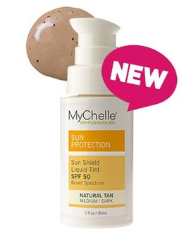 Sun Shield Liquid Tint Natural Tan MyChelle 1.1 oz Liquid