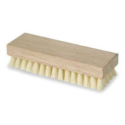 TOUGH GUY 1VAD7 Square End Scrb Brush, 8 In Blck, 1 In Trm