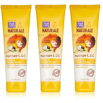 [PACK OF 3] DARK AND LOVELY AU NAT MOIST LOC LOCK IT IN SEALING CREAM 8.5oz: Beauty