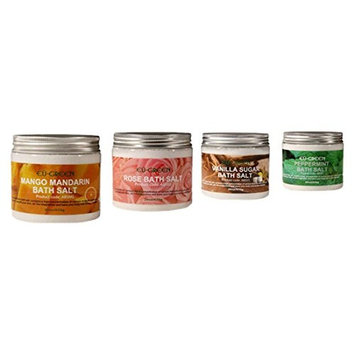 Modern Home Royal Massage Natural Sea Mineral Bath Salts, Set of 4, 2 Ounce