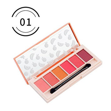 RNTOP Eyeshadow Cosmetics Set With Brush 6 Colors Eye Makeup Palette