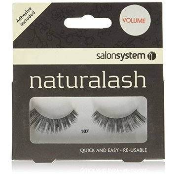 Salon System Naturalash Quick and Easy Re-Usable Black 107 Lashes by Salon System