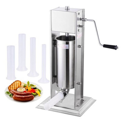 5l 15lbs Vertical Sausage Stuffer Meat Maker Filler Two Speed Commercial Stainless Steel