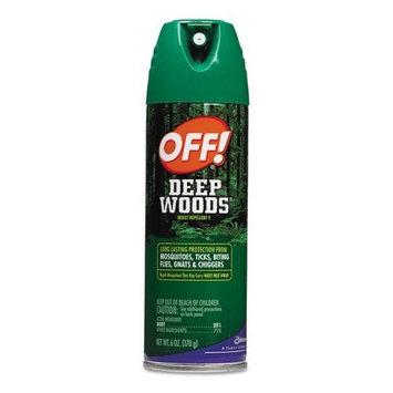 OFF! Deep Woods Insect Repellent, 6oz Aerosol, 12/Carton (SJN611081)