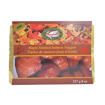 Wild Caught Canadian Maple Smoked Wild King Salmon Nuggets
