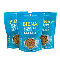 Biena Chickpea Snacks, Sea Salt Roasted, 5 Oz