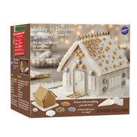 Wilton Ready to Decorate Bling Gingerbread House Decorating Kit, Pre-Assembled