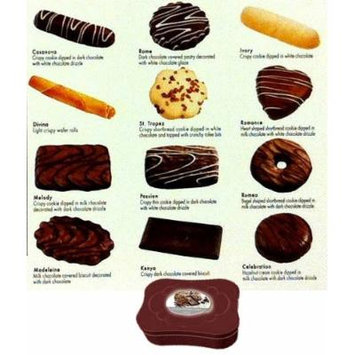 European Belgian Chocolate Cookie Assortment with Gift Tin