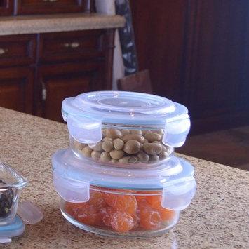 Round Borosilicate Glass Container