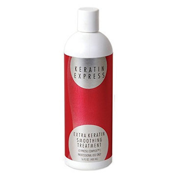 Keratin Express Extra Smoothing Treatment up to 6 weeks, 16 fl oz for Fine Hair. For Course Hair Use Keratin Express Plus. Do not use it on Pregnant Women and Children; it contains Formaldehyde.