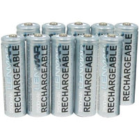 Rechargeable AA 10 Pack 2500 mAh Batteries by Lenmar