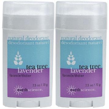 Earth Science All-Natural Deodorant, Tea Tree & Lavender - 2.5 oz - 2 pk