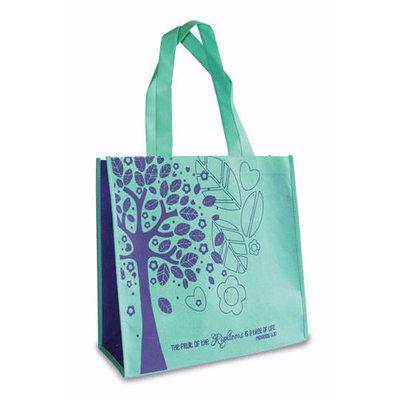 Eco Tote-Tree Of Life-Teal w/Purple