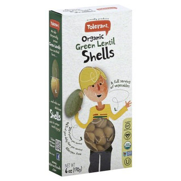 Tolerant Food Organic Green Lentil Shells 6 oz - Vegan