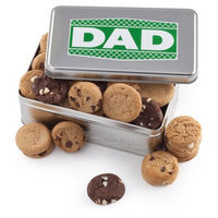 Mrs. Fields Father's Day Nibblers Bite-Sized Cookie Tin, 28ct