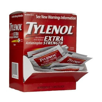 Tylenol Extra Strength Pain Reliever & Fever Reducer Caplet Packets-50 ct (Pack of 3)