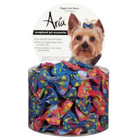 Petedge DT1610 99 Aria Puppy Love Bow Canister 100 Pcs