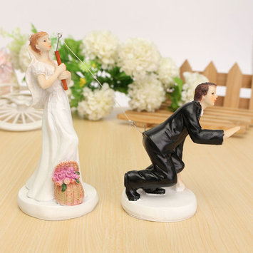 Resin Bride Groom Couple Wedding Cake Topper Bridal Figurin Decoration Gift Valentine's Day Decoration