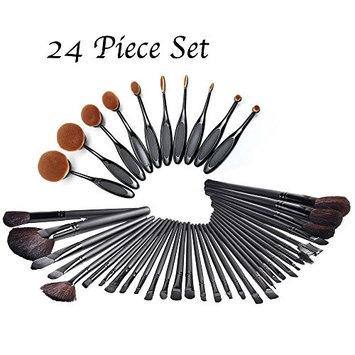 Medex 24-Piece Ultimate Celebrity Makeup Brush Set - Super Soft Cosmetics Foundation Blending Blush Eyeliner Face Powder Brush (Pack of 24)