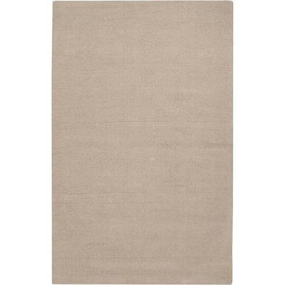 7.5' x 9.5' Rogue Love Moonlight Taupe Wool Area Throw Rug