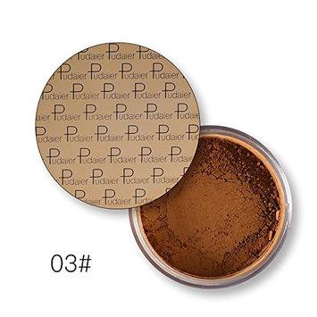 Pudaier Oil Control Powder Makeup Long Lasting Bronzer Matte Mineral Dark Skin Contour Loose Face Powder Color 3