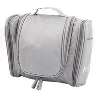 Women Travel Cosmetic Toiletry Toiletries Hanging Storage Wash Bag Handbag Gray