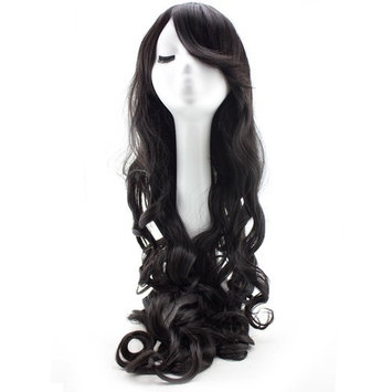 32 Inches Black Long Big Wavy Cosplay Synthetic Hair Wigs for Women