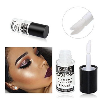 ZHUOTOP IMAGIC 5ML Makeup Fix Gel Glitter Eye Shadow Shimmer Pigment Loose Powder Liquid Glue Waterproof Lasting Base Gel Primer