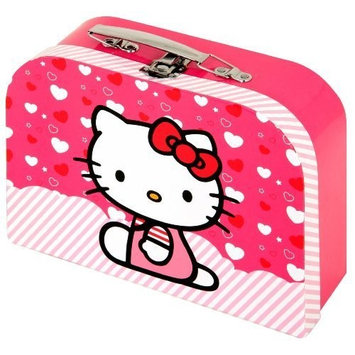 Hello Kitty Mini Suitcase Vanity Case with Metal Handle by Sanrio