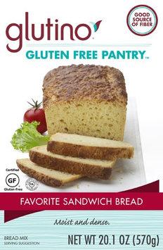 Glutino Gluten Free Pantry Favorite Sandwich Bread Mix - 20.1 oz pack of 6