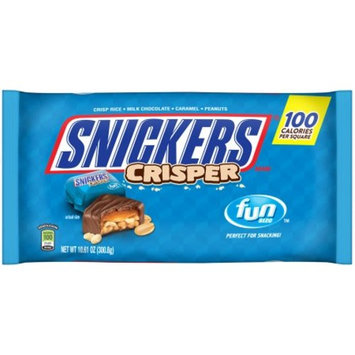 SNICKERS Crisper Fun Size Chocolate Bars Candy Bag, 10.61 oz