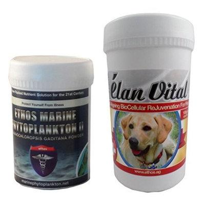 Ethos 100% Pure Elan Vital for Pets - 100g Powder Plus 30g 100% Pure Marine Phytoplankton Powder
