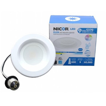 NICOR DLR4-3006-2K-WH-BF 4 in. LED Recessed Downlight in 2700K with Baffle Trim White