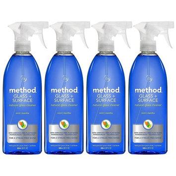 Method Natural Glass Cleaner, Mint, 28oz, 4pk