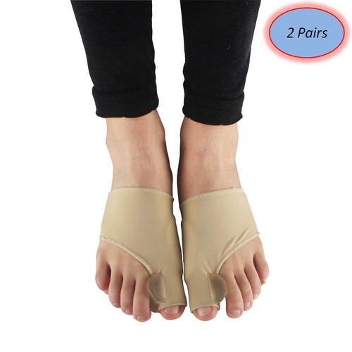 YL trd V 2 Pairs of Bunion Corrector and Bunion Relief Sleeves Kit-Toe Separators Spacers Straighteners Splint Hallux Valgus Big Toe Joint Hammer Toe Aid Surgery Treatment
