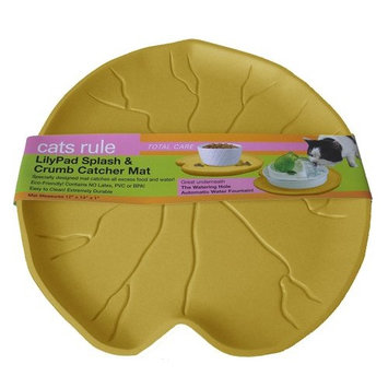 Cats Rule Lilypad Splash and Crumb Catcher Mat, Taupe