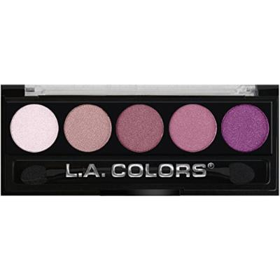 L.A. Colors 5 Color Metallic Eye Shadow- Wine and Roses