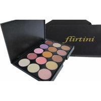 FLIRTINI 3D LOOK 15 color eyeshadow palette. Warm. Neutral.