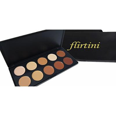 FLIRTINI 3D Look Cream Foundation and Camouflage Concealer 10 color Versatile uses for Cheeks,Lips,and Eyes. Cream Nature, Matte