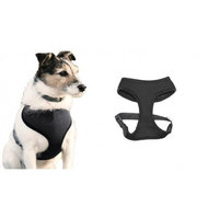 Medex 2 Layer Adjustable Added Dog Friendly Vest Harness By Animal Heaven-Color Black- Size Small