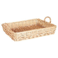 Household Essentials - Spring Bird Nest Willow Tray - Natural