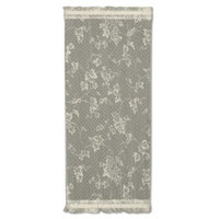 Heritage Lace Ivy Graphic Print & Text Sheer Rod pocket Single Curtain Panel